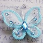 "Butterfly - 2"" Light Blue"