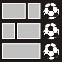 Soccer Balls - 12x12 Overlay