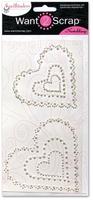 Nestabling Scalloped Hearts White Pearl