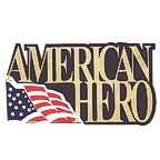 American Hero with US Flag - Gold Text!