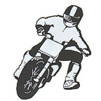 BMX Motocross Dirt Bike rider in black/chrome!
