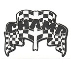 CHAMP Racing Flag theme die cut