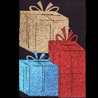 Christmas Presents - Package of 3 - GLITTER!