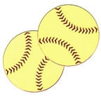 "Softball - small pair 2"" diameter each."