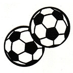 Soccer ball pair - Set of 2