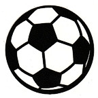Soccer ball pair - Single large