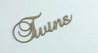 TWINS - Fancy Chipboard Word