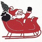 Santa in Sleigh with goodies!