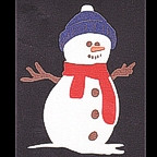 Snowman - Glitter with red scarf and stocking cap!