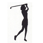 Golfer - Woman - Swung