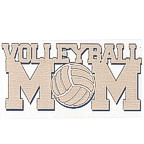 Volleyball MOM 3 color laser design