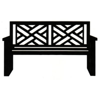 Park Bench - Criss/Cross design