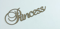 PRINCESS - Fancy Chipboard Word