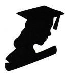 Graduate Bust Silhouette - Woman