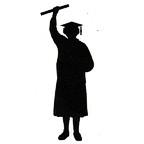 Graduate with diploma - Woman