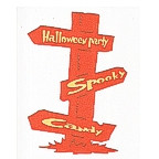 Halloween Party Sign Post - 2 Color!