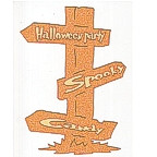 Halloween Party Sign Post - 2 Color - GLITTER!