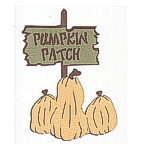 Pumpkin Patch Sign with GLITTER Pumpkins!