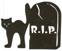 Halloween Cat and RIP Tombstone Laser Design