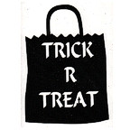 Trick R Treat Bag -  Black