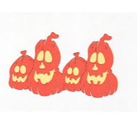 Row of 4 Pumpkins - Small