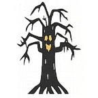 Haunted Tree with Face - 2 colors!