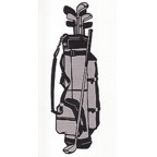 Golf Bag - Superb Laser Detail! 2 color design.