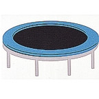 Trampoline - 3 color laser design