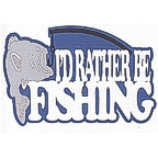I'd Rather Be Fishing 4 color laser design!