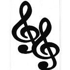 Treble Clef - Package of 2 in Black