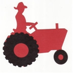 Small Red Tractor with Farmer - 2 color