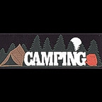 Camping Title Strip with Tent - 4 Colors!