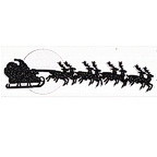 Santa's Sleigh Ride with Reindeer in Glitter! Title Strip
