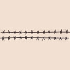 """Barbed Wire - Package of 2 - 11"""" long Title Strip"""