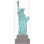 "Statue of Liberty-3 color 10 1/2"" high!"