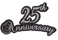 25th Anniversary laser die cut in Silver Glitter