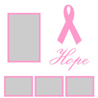 Hope with Ribbon - 12x12 Overlay