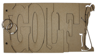 Golf Chipboard Album - Man Player