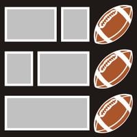 Footballs - 12x12 Overlay