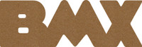 "BMX  -  Chipboard Word - 2 1/2"" x 7 1/2"""