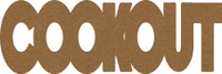 "Cookout  -  Chipboard Word - 2 1/2"" x 7 1/2"""