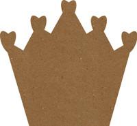 """Crown - 4"""" x 4"""" Chipboard"""