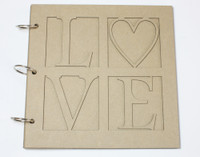 Love Album 8x8 - Chipboard Albums