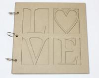 Love Album 8x8 - Chipboard Albums