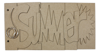 Summer chipboard album