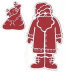 Santa Clause with Bag of Toys - 2 Pieces