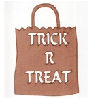 Trick R Treat Bag - Authentic Paper Bag Stock - Small