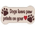 Dogs leave paw prints on your heart -  Laser Die Cut