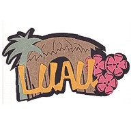 Luau - 5 Color Laser Die Cut!