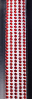 "Sleek Strips 12"" Rhinestones- Red"